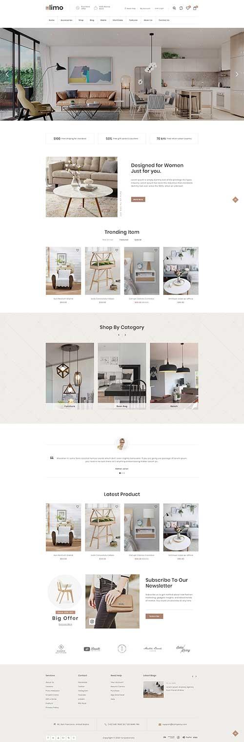 Website Showroom Nội Thất Hút Khách ShopVolly
