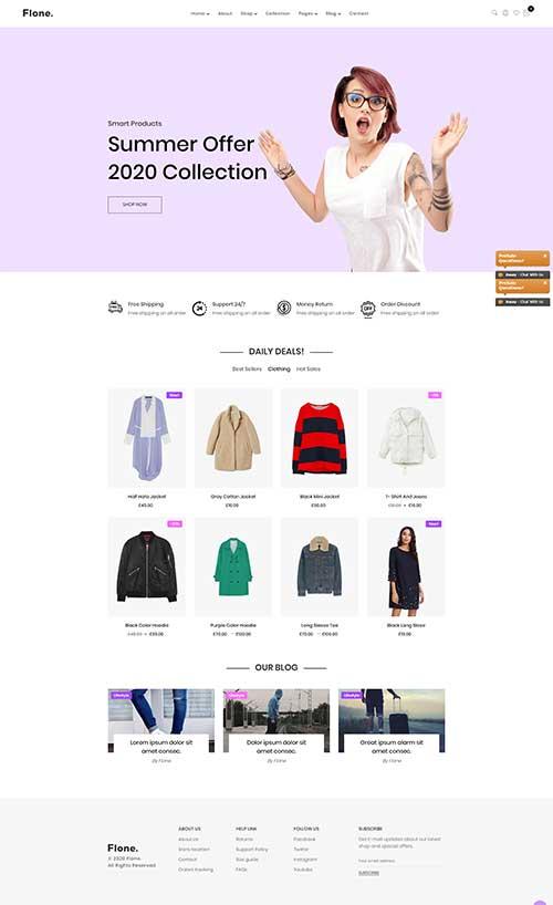 Web Shop Thời Trang Nữ Flone