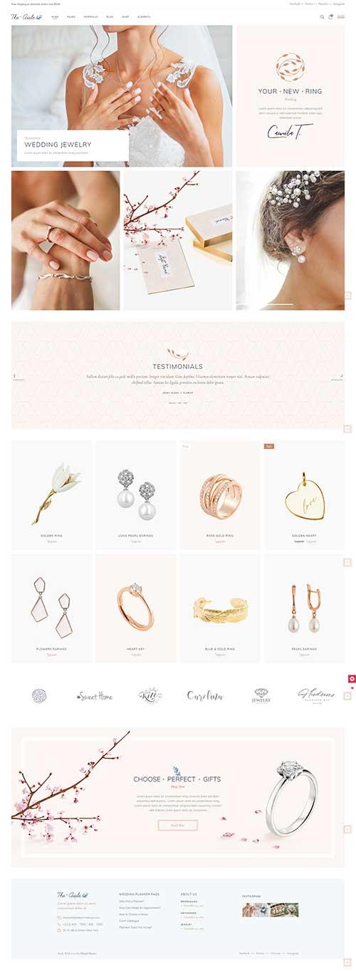 Website Bán Trang sức đám cưới The Aisle