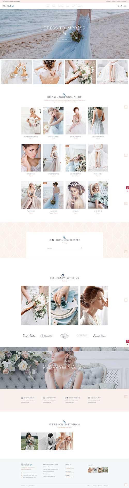 Website Shop váy cưới The Aisle