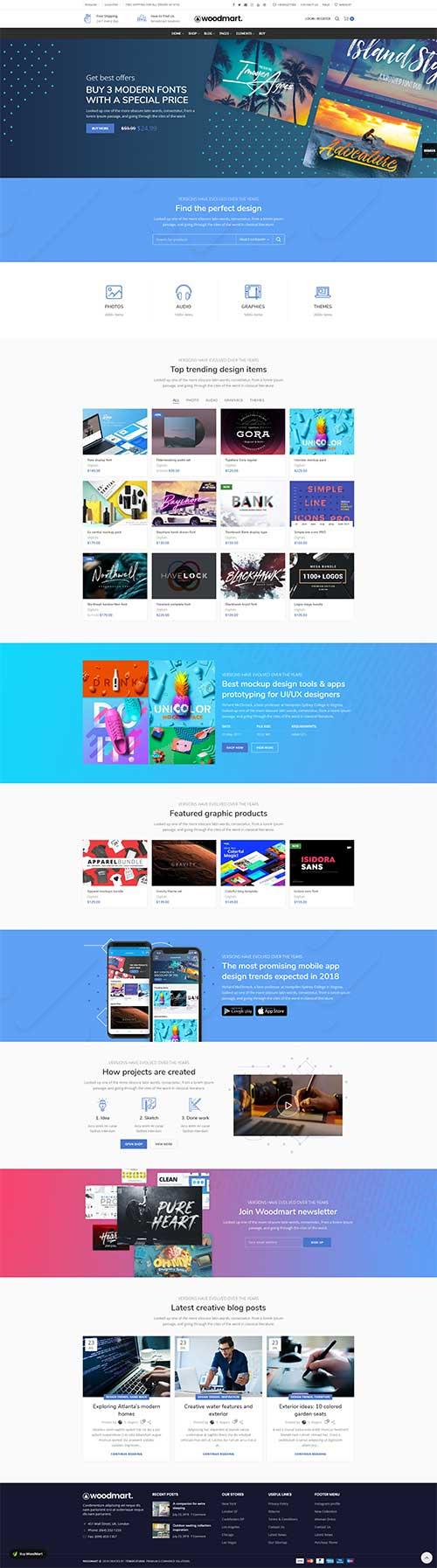 Website Bán Phần Mềm Software Woodmart