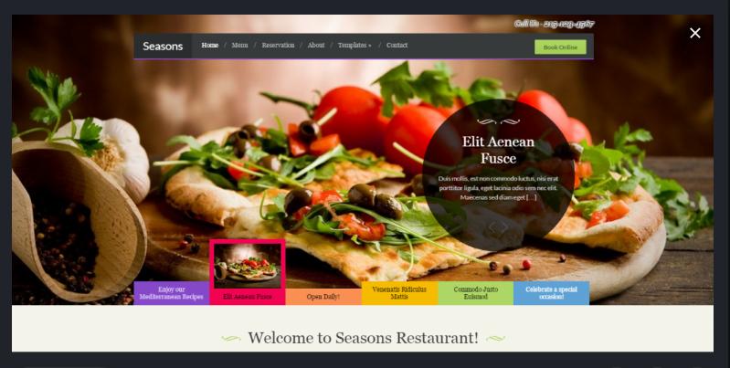 Thiết kế Web Nhà hàng đẹp giá rẻ