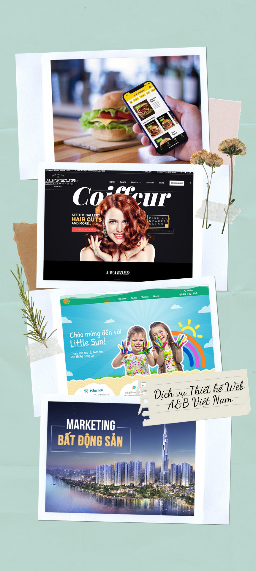 thiết kế web theo ngành nghề