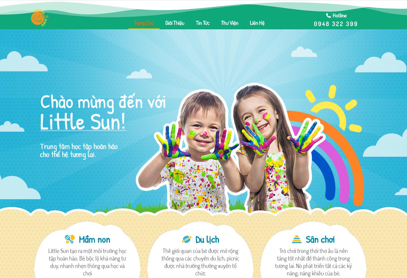 Thiết kế Web Trường mầm non đẹp mắt chuẩn seo