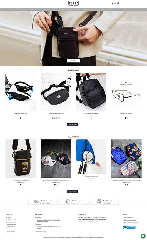 Mẫu website Thời trang kính mắt Glazz