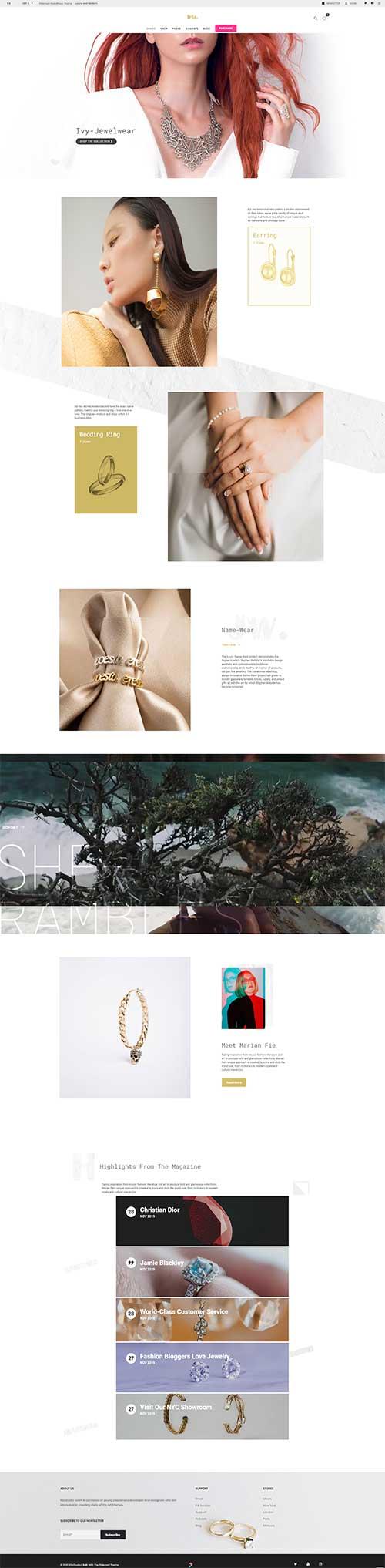 Website Bán Trang Sức Đá Quý Thời Thượng