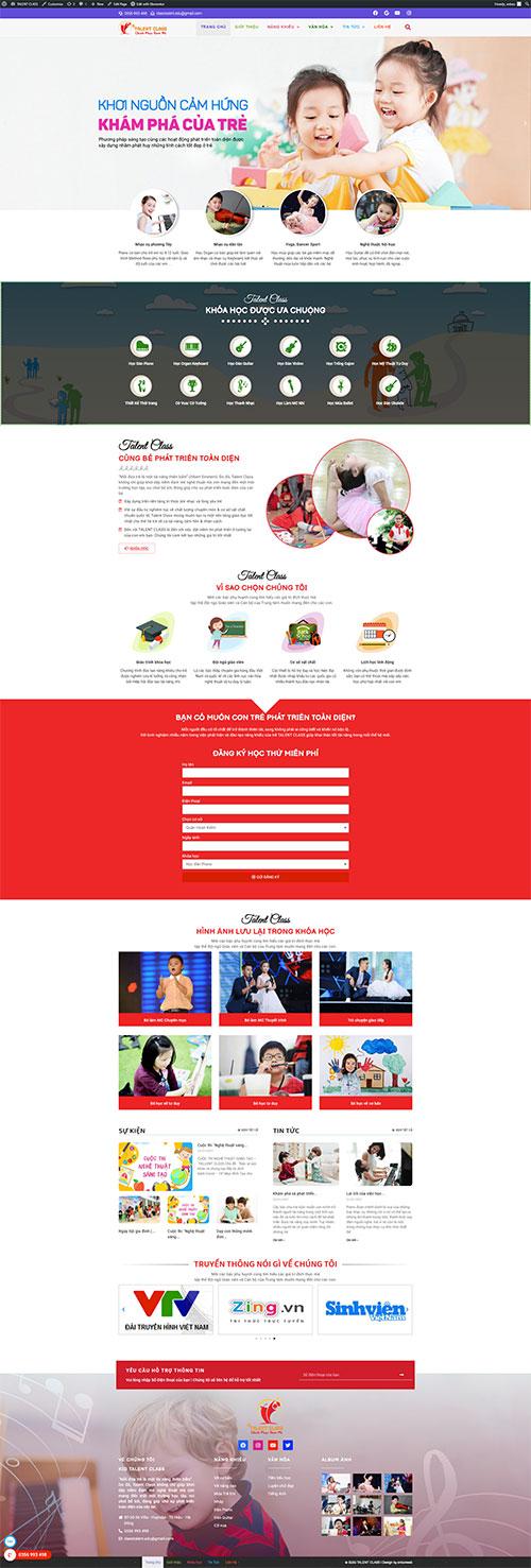 mau-website-trung-tam-dao-tao-tai-nang-tre-em-Talent-class