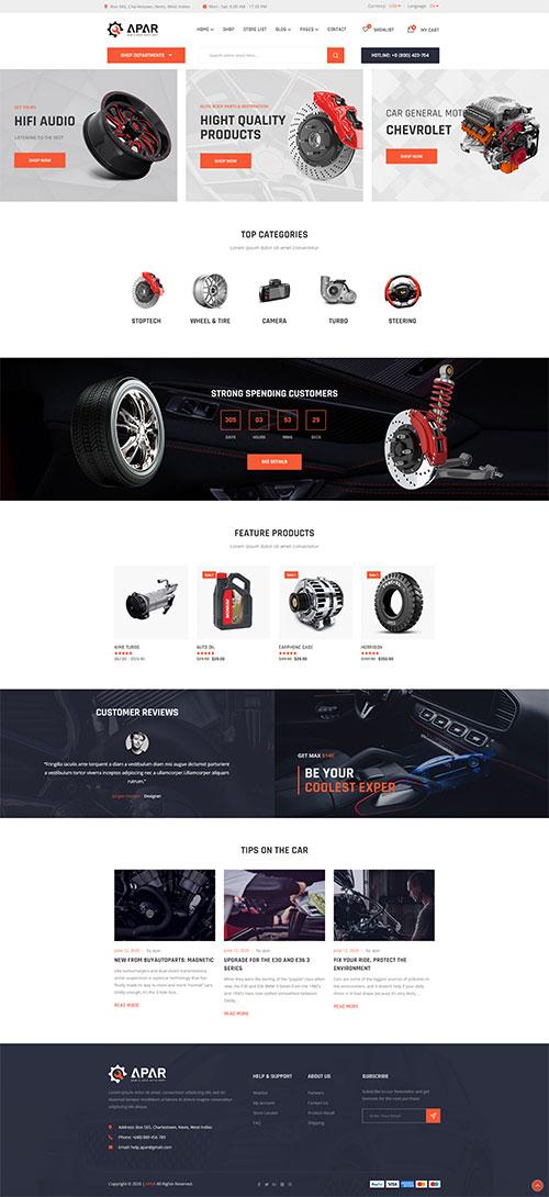 Thiết kế website Bán Phụ tùng ô tô Đẹp Chuyên Nghiệp 04
