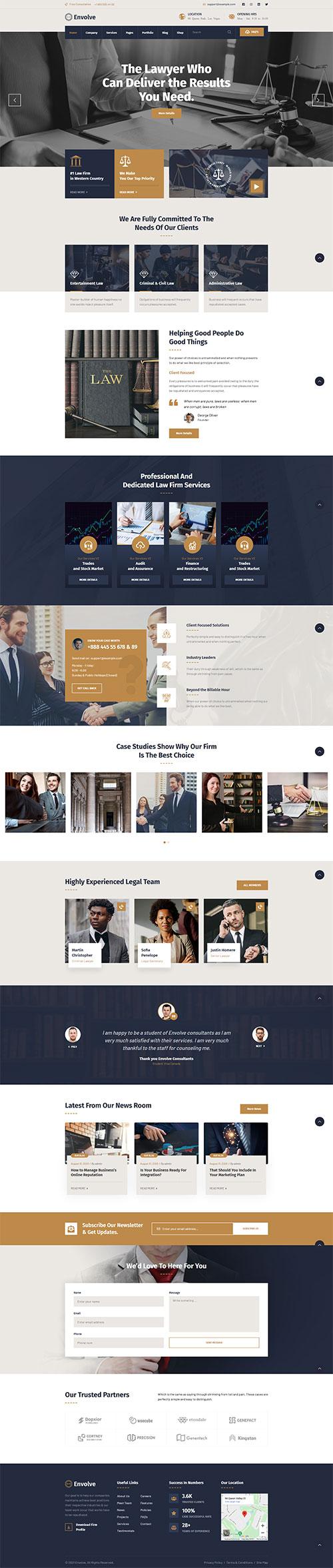 Mẫu website Luật chuyên nghiệp 01