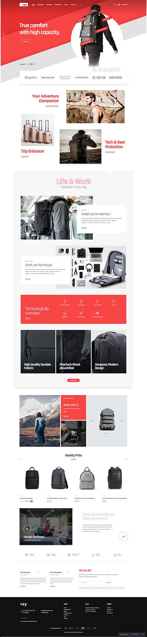 Mẫu website shop Thời trang hiện đại 05